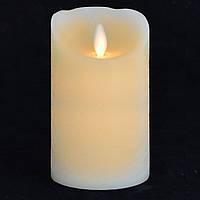 Светодиодная восковая свеча 7.5*12.5 см