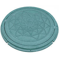 Люк полимерпесчаный с замком 1 т зеленый N90122432