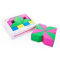 Деревянные цветные кубики Сложи узор