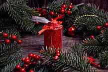 Новогодняя свеча с присыпкой 0527, фото 3