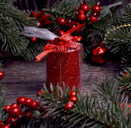 Новогодняя свеча с присыпкой 0527, фото 2