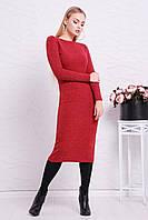 Облегающее красное платье из ангоры