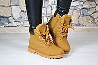 Женские зимние ботиночки коричневые Timb