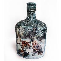 Подарок охотнику Сувенирная бутылка Мужской сувенир для охотника Ручная работа, фото 1