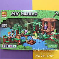 Конструктор Minecraft 508 деталей коробка 47*7,5*30 см
