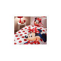 Покрывало хлопковое подростковое Tac Disney 160х200 - Minnie Mouse