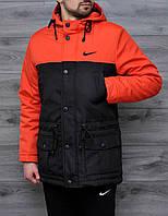 Парка зима | Куртка Nike лого вышивка