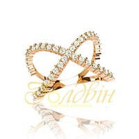 Золотое кольцо с фианитами ГП10437