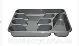 Пластиковый органайзер для столовых приборов на 5 отсеков, фото 2