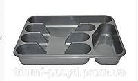 Вкладыш-органайзер в ящик стола для ложек и вилок, пластмассовый