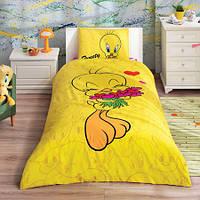 Постельное белье подростковое TAC Disney 160х220 - Tweety Hearts