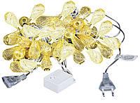 Новогодняя гирлянда 30 LED, Длина 7 М, Белый теплый свет