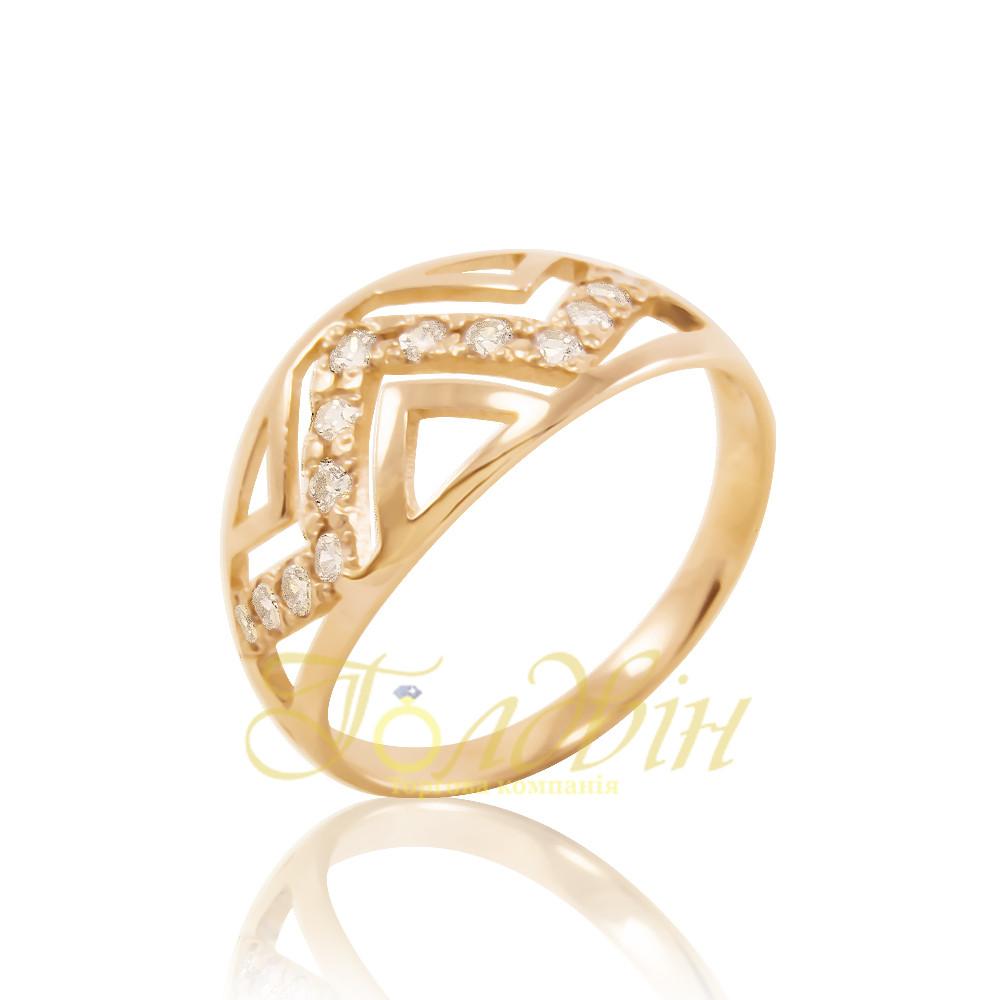 Золотое кольцо с фианитами. КП10209