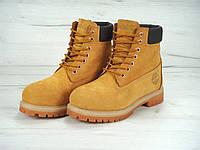 Мужские ботинки Timberland 6 inch Yellow С МЕХОМ, ботинки Тимберленд