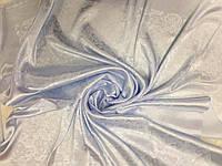 Шелковый платок шейный  Цвет светло голубой 95см