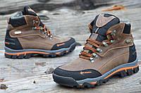 Ботинки мужские зимние кожаные коричневые (код 157)- чоловічі зимові черевики шкіряні коричневі, фото 1