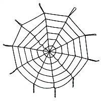 Паутина черная 1.5 м, подвесная на хэллоуин, декор на вечеринку