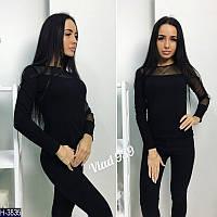 Стильная женская черная кофта . Арт-12301