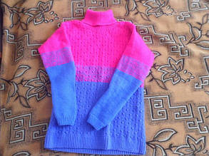 Вязаный свитер из белорусской пряжи Ареола