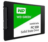 SSD 120Gb, Western Digital Green, SATA3, 2.5', TLC, 540/430 MB/s (WDS120G1G0A)