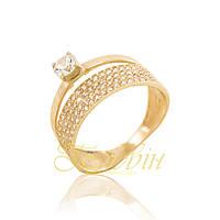 Золотое кольцо с фианитами KП1618