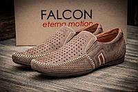 Мокасины мужские Falcon бежевые, коричневые
