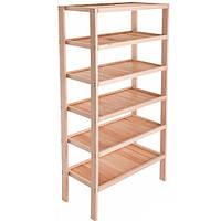 Стеллаж деревянный 180х80х40 см N40519031