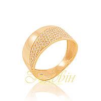 Золотое кольцо с фианитами КП1696