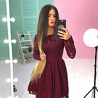 Женское кружевное платье на подкладке