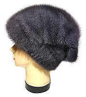 """Норковая шапка-косынка """"Стелла Веер"""" цвет ирис"""