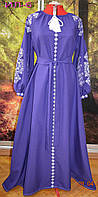 Стильное вышитое платье в стиле Бохо.