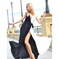 """Платье длинное """"Шахматы"""", коктейльное длинное нарядное платье."""