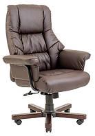 Кресло Конгресс Вуд кожзам Коричневый (Richman ТМ)