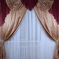 Комплект красивых штор с ламбрекеном