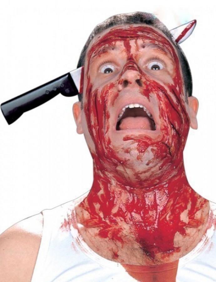 Нож в голове ободок