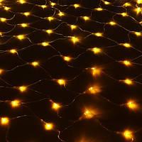 Светодиодная Сетка 150х150см, 120led-кристалл, прозрачный провод, разные цвета