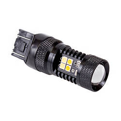 Двухцветная (белый+желтый) светодиодная лампа 7443 - W21/5W - T20 - 3030SMD  Osram Dual color lamp