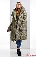 Женское зимнее пальто oversize, облегченное, фото 1
