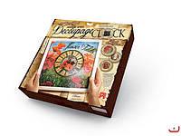 Набор для творчества Decoupage Clock Цветы с рамкой, Danko Toys, DKС-01-04