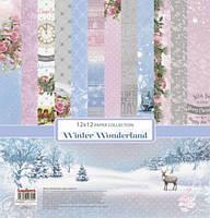"Набор скрап бумаги ""Зимняя сказка (winter wonderland)"" Scrapberry  7шт. 30х30см, фото 1"