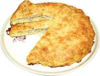 Картофельный пирог с колбасой