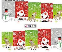 Слайдер  для ногтей BN-221 Новогодний дизайн