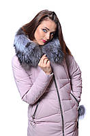 Куртка женская зимняя VISDEER V7183 ПУДРА