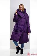 Женское зимнее пальто одеяло, облегченное, застежка магниты, фото 1