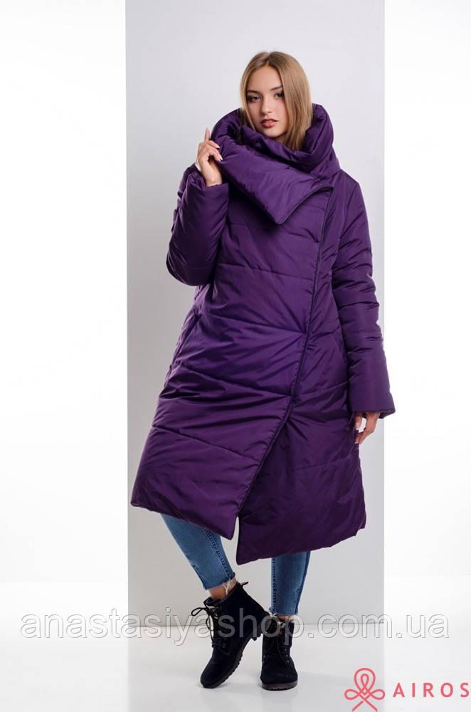 Женское зимнее пальто одеяло, облегченное, застежка магниты