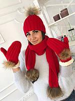 Шапка (в комплект шарф+перчатки) мод.8816