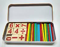 """Набор """"Считалочка"""" цифры, знаки и счетные палочки"""