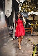 Платье женское рифлёный неопрен с сеточкой  Модель 5052 СК