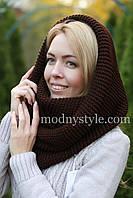 Снуд  шарф хомут женский шерстяной