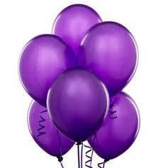 Шарики с гелием  30 см., фиолетовый